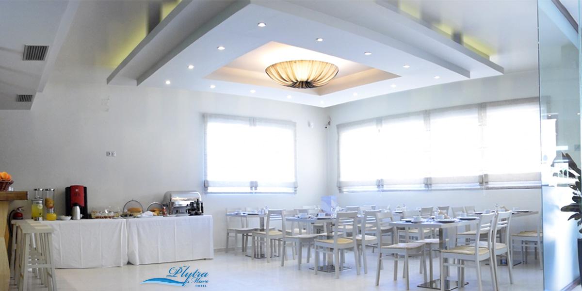 breakfast room at plytra mare hotel